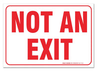 "(2 PACK) Not An Exit Sign, Large 10 X 7"" Vinyl Stickers, For Indoor or Outdoor Use - By SIGO SIGNS - Sigo Signs"