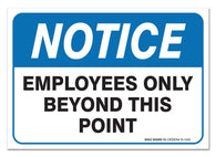 "(2 Pack) Employees Only Sign, - Self Adhesive 7 X 10"" 4 Mil Vinyl Decal - Indoor & Outdoor Use - UV Protected & Waterproof - Sleek - Sigo Signs"