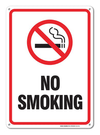 No Smoking Sign, Smoking Sign Legend 10 X 7 Rust Free 0.40 Aluminum Sign - Sigo Signs
