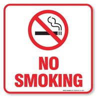 "(4 Pack) No Smoking Sign Self Adhesive "" 5½ X 5½"" 4 Mil Vinyl Decal — Indoor & Outdoor Use — UV Protected & Waterproof — Sleek, Rounded Corners - Sigo Signs"