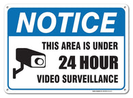 Video Surveillance Sign - Avoid Intruders Using Large 10 x 14 Inch Warning-USA Made Of Rust Free Aluminum-UV Printed With Professional Graphics-Easy To Mount Indoors & Outdoors - Sigo Signs