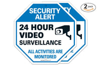 "(2 PACK) 24 Hour Surveilance All Activities Are Monitored Sign - Video Surveillance Sign - CCTV Security Alert - Legend"" Large 12 X 12 Octagon Rust Free 0.40 Aluminum Sign - Sigo Signs"