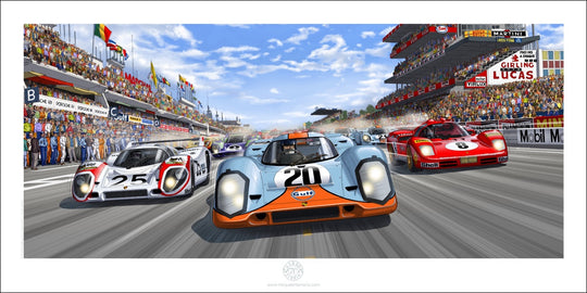 Art Print 1 m x 50 cm - The race is ON