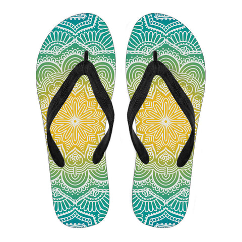 Mandala Custom Printed Flip Flops - Multiple Colors and Styles