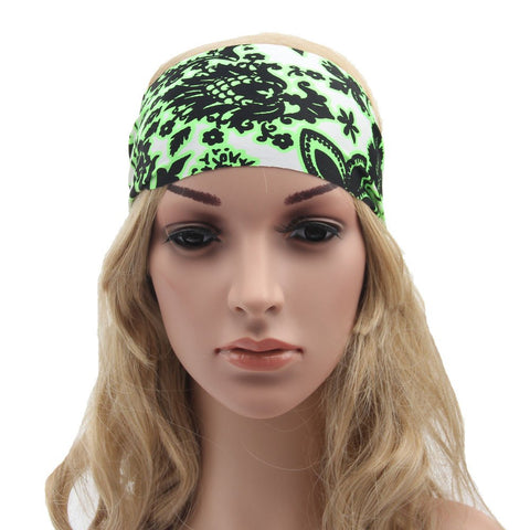 Floral Printed Yoga Headband for Women-theyogasuite