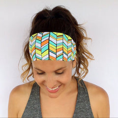 Floral Printed Yoga Headband for Women