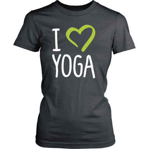 """I Love Yoga"" Women's T-Shirt-theyogasuite"