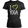 "Image of ""I Love Yoga"" Women's T-Shirt-theyogasuite"