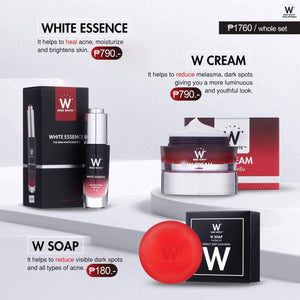 1 W Cream, 1 White Essence, 2 W Soap + freebies!