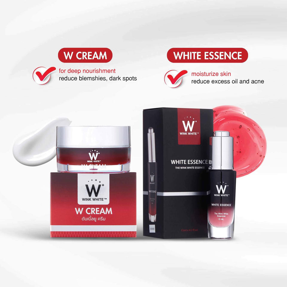 1 White Essence, 2 W Cream + freebies!