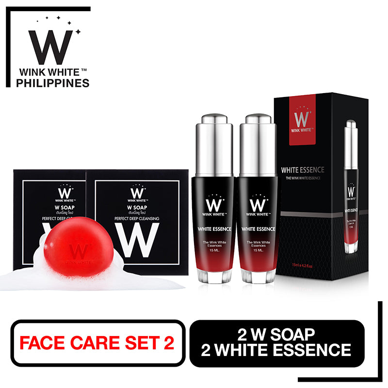 Facial Set 2, 2 W Soap, 2 White Essence