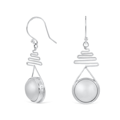 Jacqui Drop Pearl Earrings