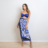 Tropical Blues Hand-Painted Silk Wrap