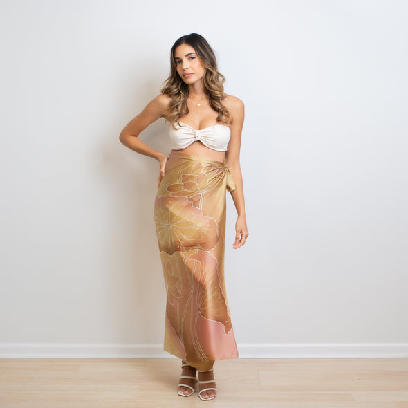 Golden Koi Silk Wrap