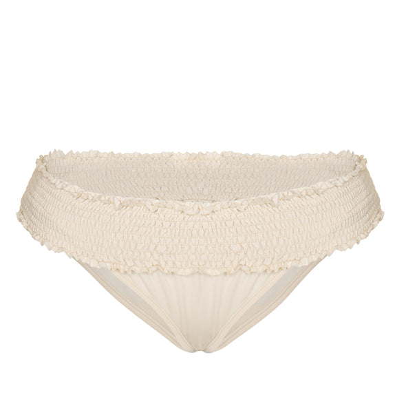 Alexandra Smocked Bottoms in Pearl