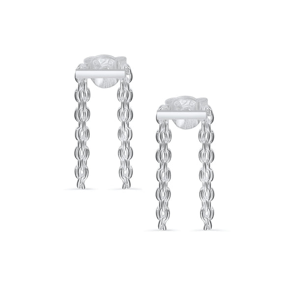 ALLURE LINKED CHAIN BAR STUDS - Scada Australia