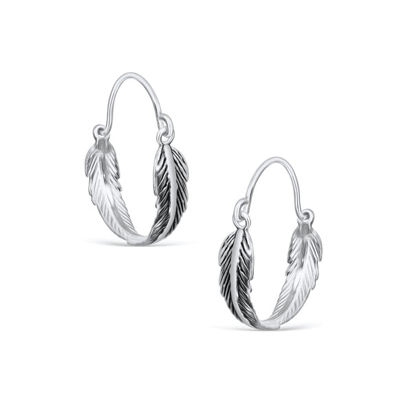 VALENTINE OXIDIZED FEATHER HOOPS - Scada Australia