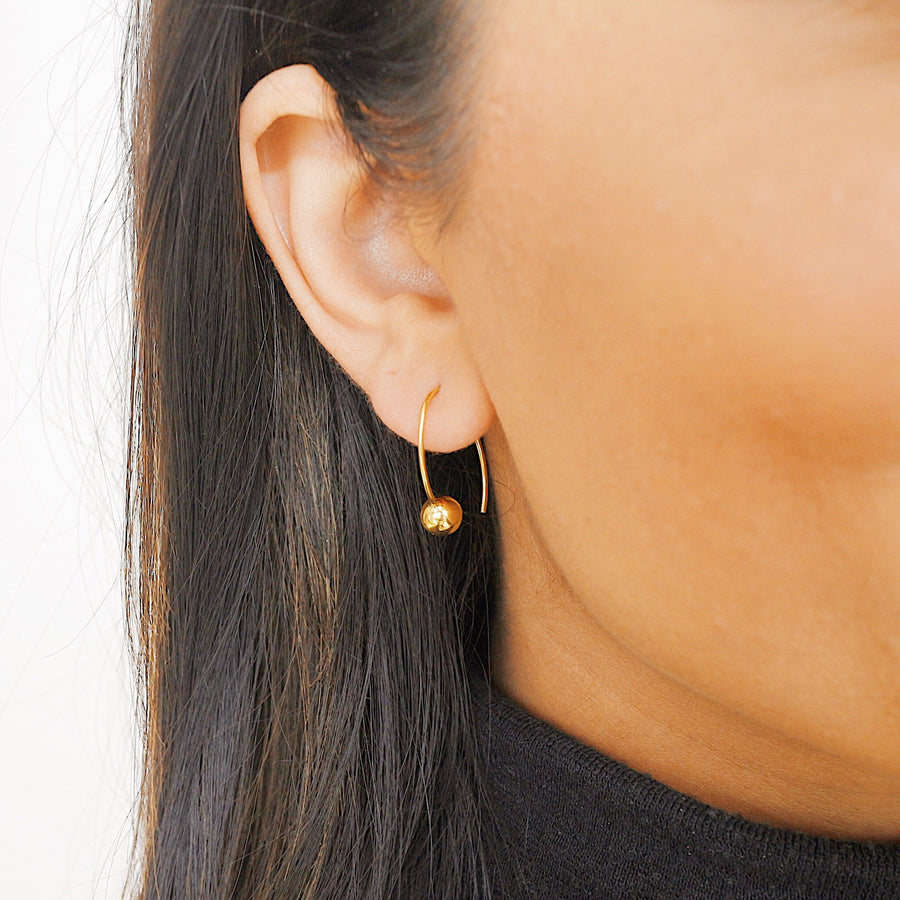 LIBERTY BALL HOOK EARRINGS - Scada Australia