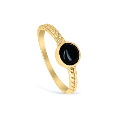 ORAL BLACK ONYX BRAIDED RING - Scada Australia