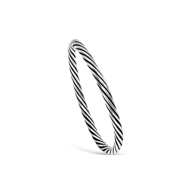 TWIRL OXIDIZED ROPED RING - Scada Australia