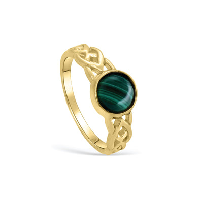 MALACHITE BRAIDED RING - Scada Australia
