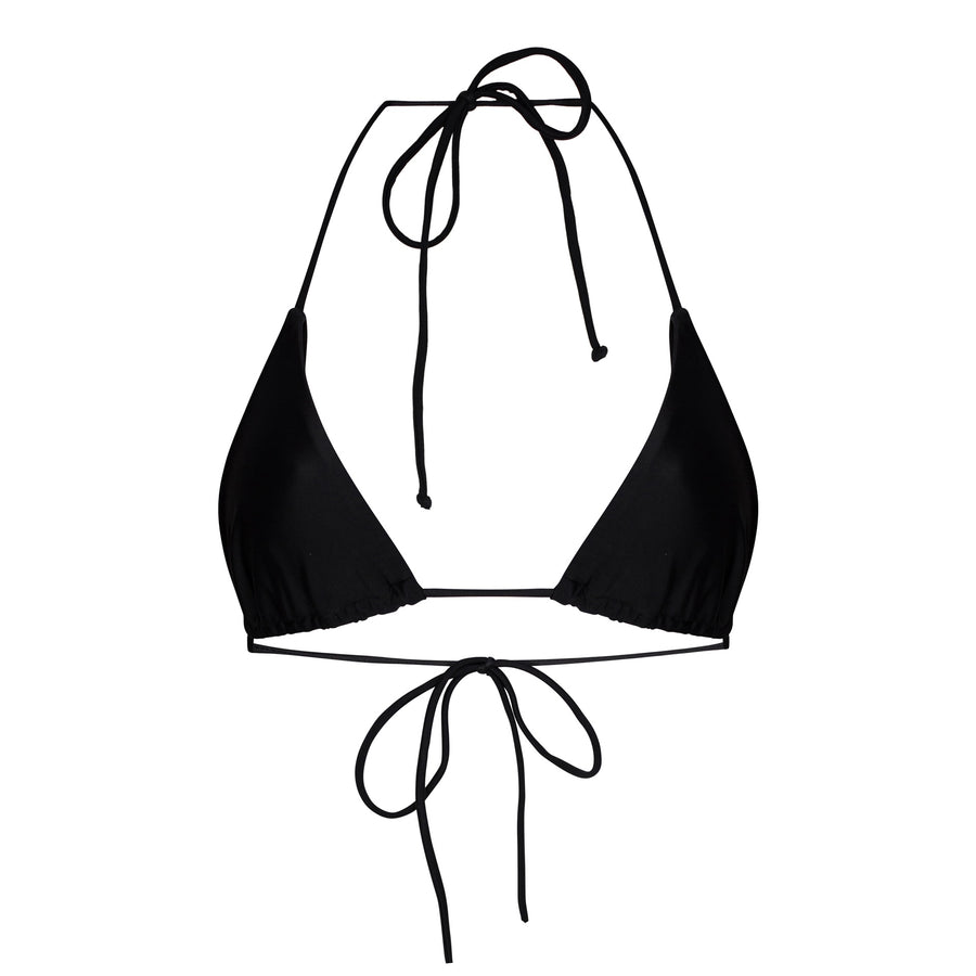 Francesca Triangle Bikini Top in Black