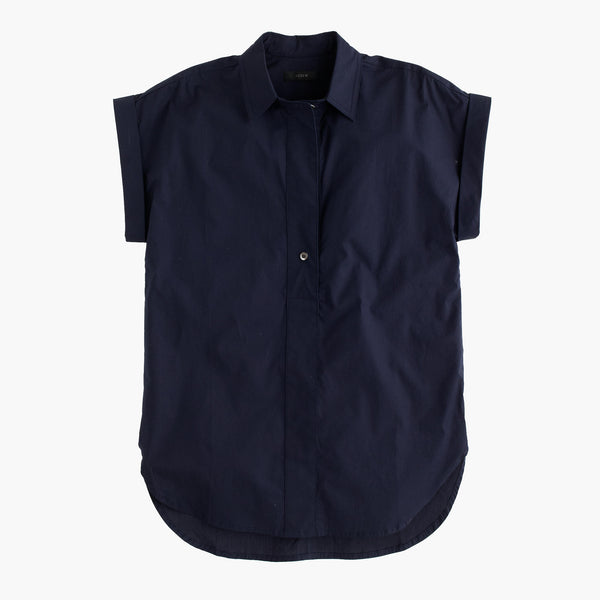 Shot-sleeve popover shirt