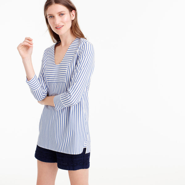 Thomas Mason® for J.Crew scoopneck tunic in classic stripe