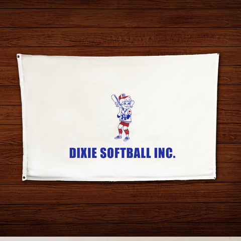 21S - Dixie Softball Logo Flag 6' x 4'
