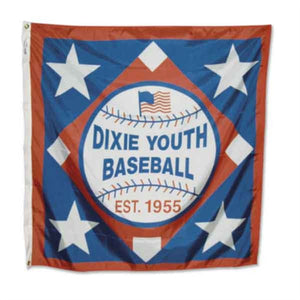 21YS - Dixie Youth Square Logo Flag 4' x 4'