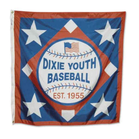 21YS - Dixie Youth Square Logo Flag