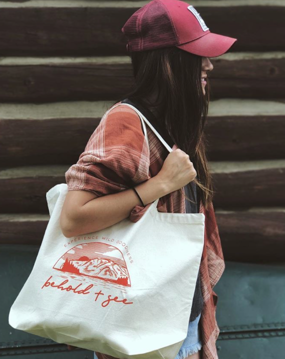 """Wild Goodness"" Canvas Tote"