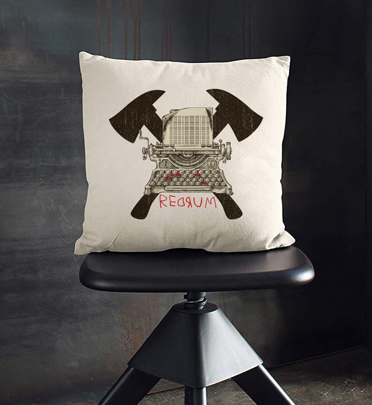 "REDRUM Throw Pillow 18""X18"""