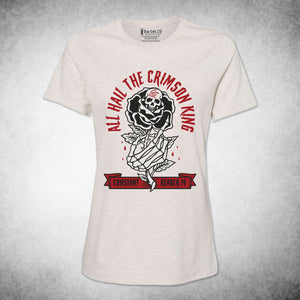 All Hail The Crimson King Tee Women's relaxed fit