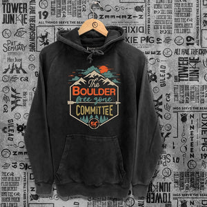 Boulder Free Zone Committee Washed Unisex Hoodie