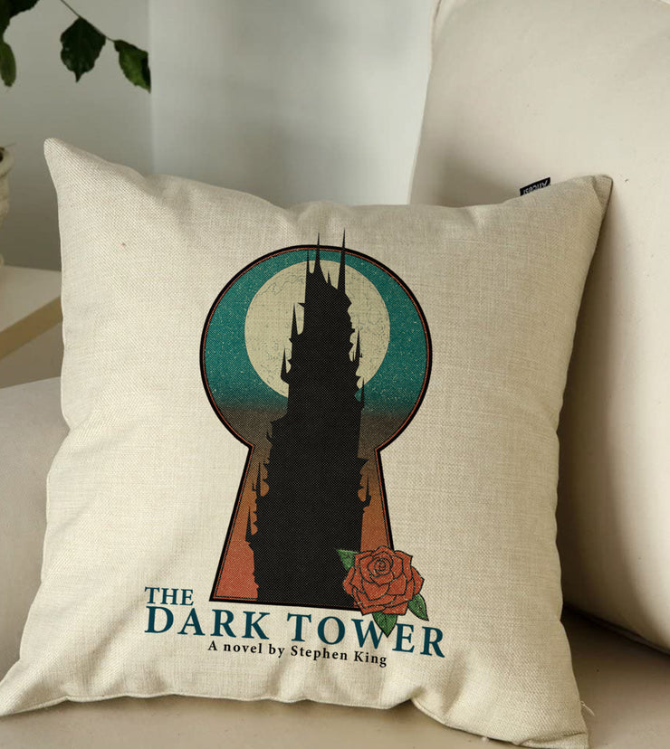 "Dark Tower Keyhole Throw Pillow 18""X18"""