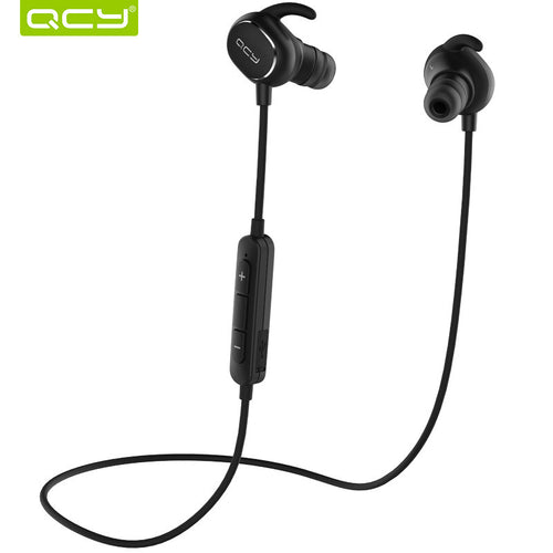 QCY QY19 English voice IPX4-rated sweatproof stereo bluetooth headphones wireless sports earphones aptX headset for all phone - BlazePod