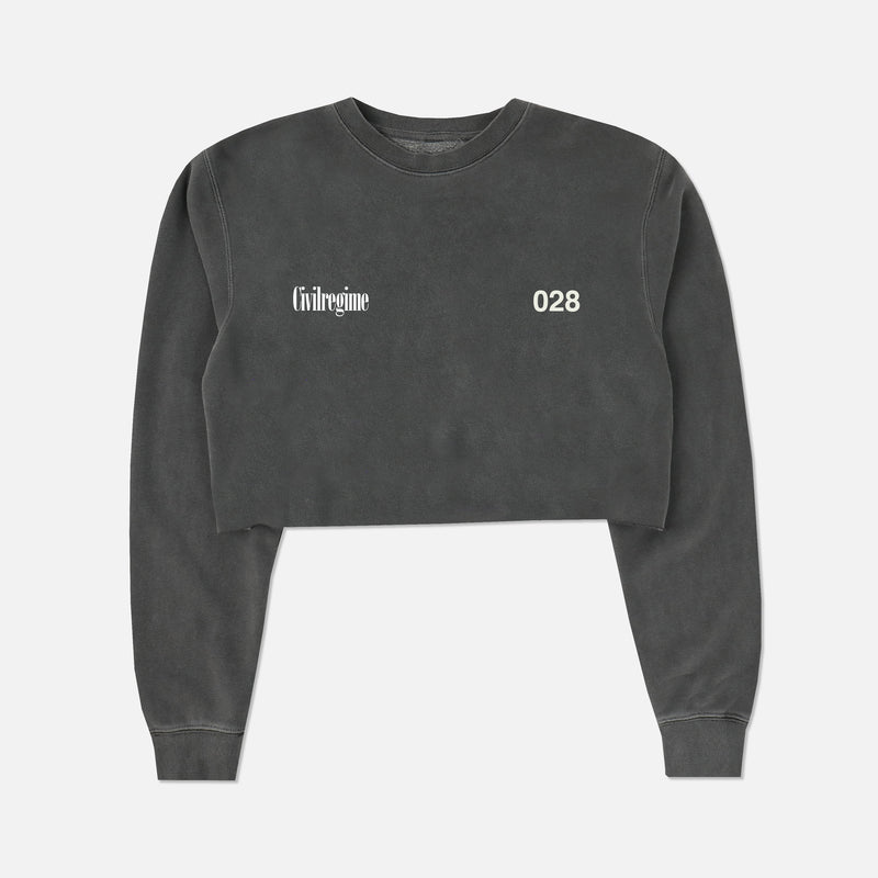 (S.I.N.) Beautiful Chaos Cropped Crewneck in Pepper