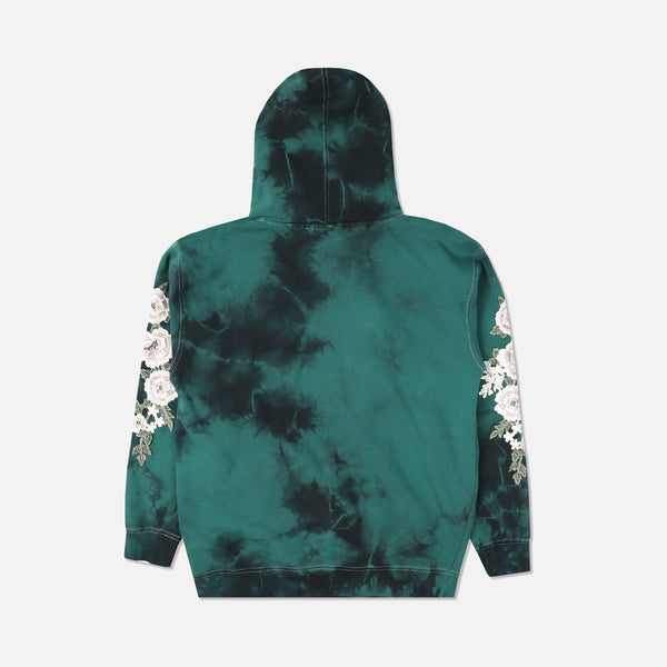 Blanco Roses Hoodie in Emerald Wash