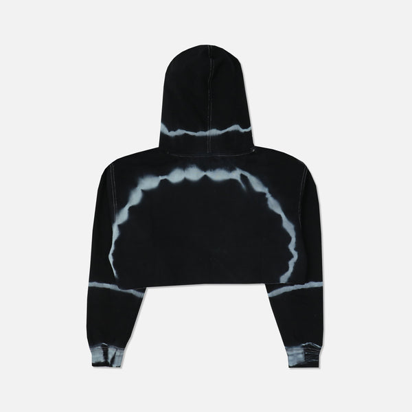 Emotionally Gone (Cropped) Hoodie in Dark Moon Wash