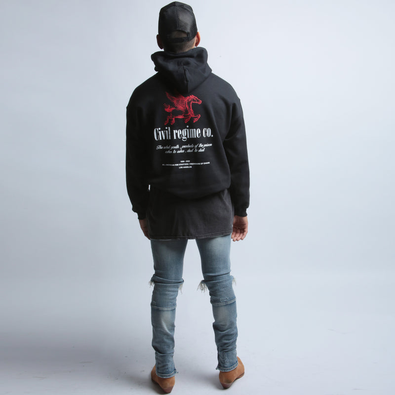 Rebel Youth Co Hoodie in Black