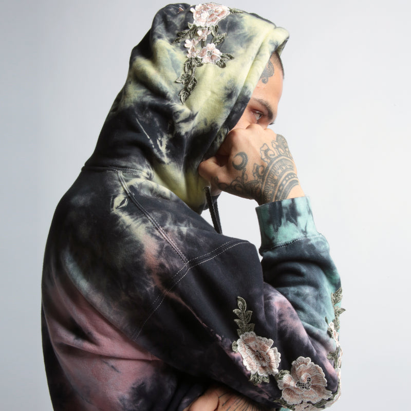Blanco Roses Hoodie in Lightning Wash