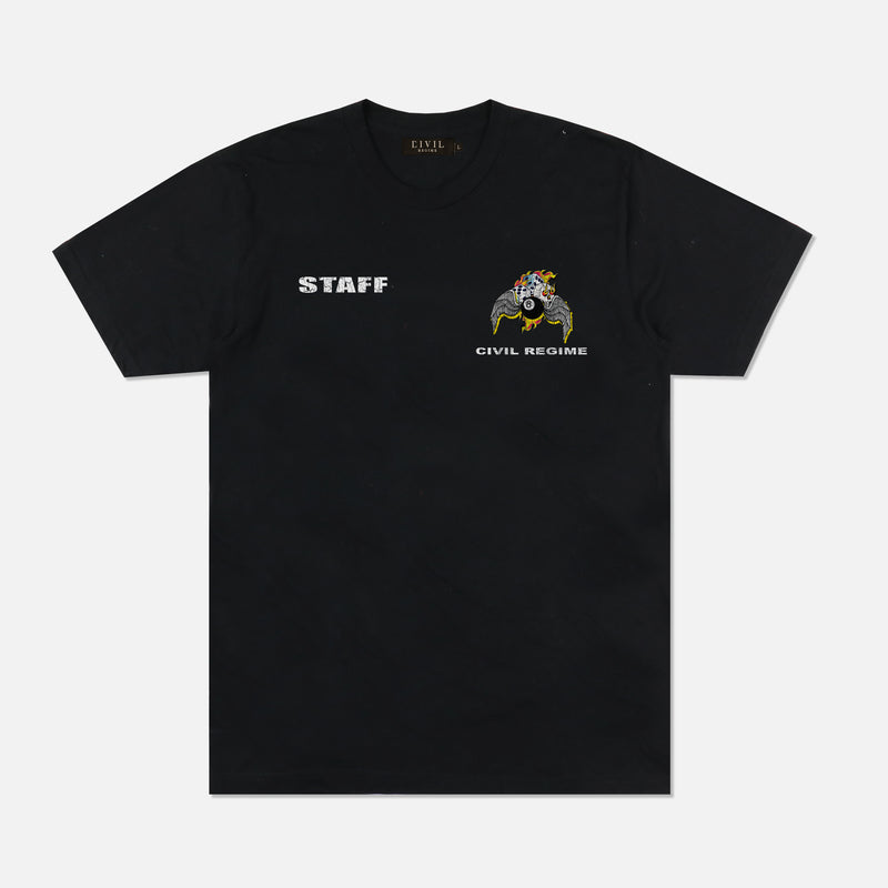 8 Ball Tour Tee in Black
