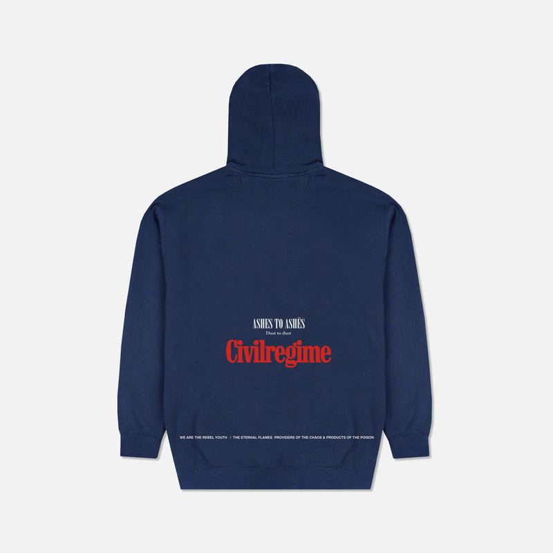 Ashes To Ashes Hoodie in Pigment Navy
