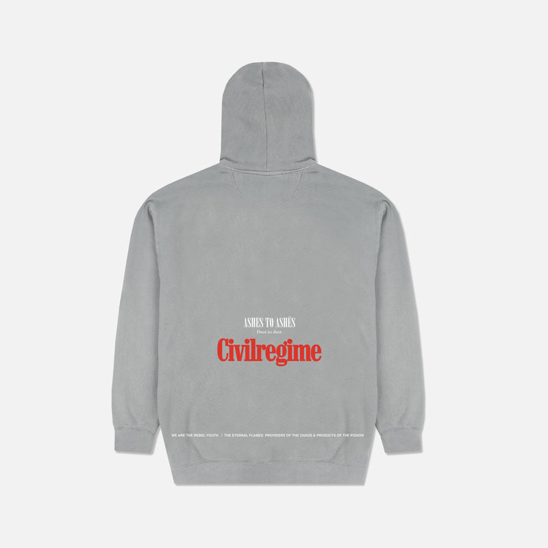 Ashes To Ashes Hoodie in Pigment Gray