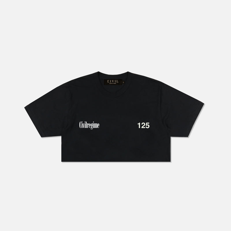 (S.I.N.) Day Dreams Cropped Tee in Black