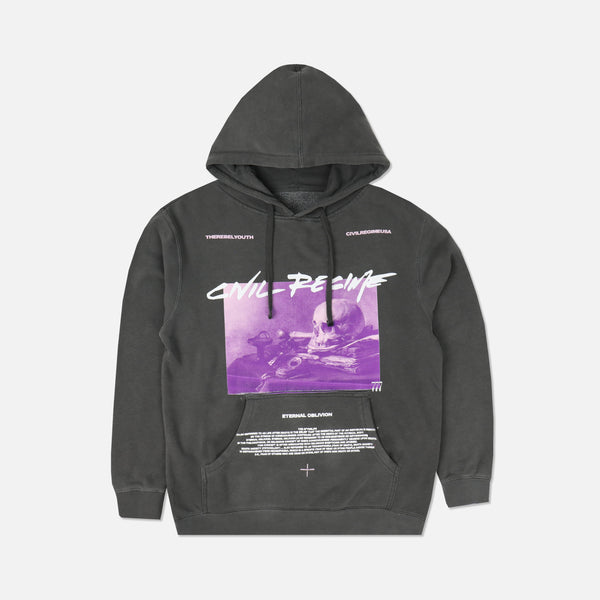 Eternal Oblivion Hoodie in Pigment Gray