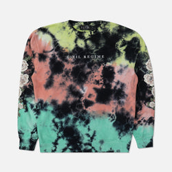 Blanco Roses Crewneck Sweater in Lightning
