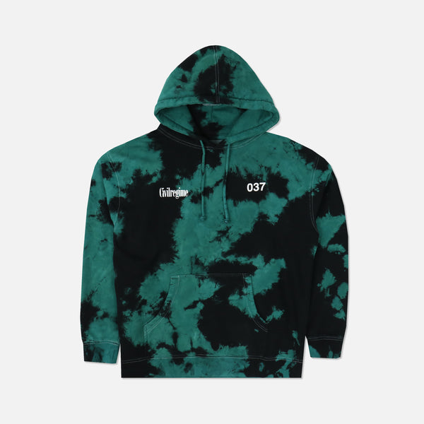 (S.I.N.) Chaos Is Peace Hoodie in Emerald Wash