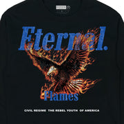 Eternal Flames (LS) Tee in Black